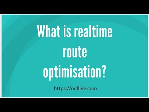 What is realtime route optimisation?