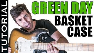Cómo tocar Basket Case de Green Day en guitarra Tutorial completo