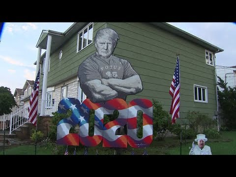 Giant President Trump display goes up in Staten Island