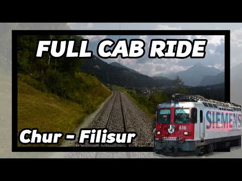 Train cab ride RhB Chur - Filisur