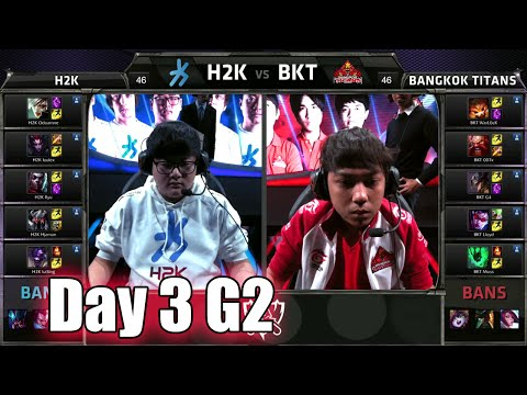 H2K Gaming vs Bangkok Titans | Day 3 Game 2 Group C LoL S5 World Championship 2015 | H2K vs BKT D3G2