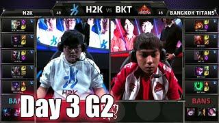 H2K Gaming vs Bangkok Titans | Day 3 Game 2 Group C LoL S5 World Championship 2015 | H2K vs BKT D3G2