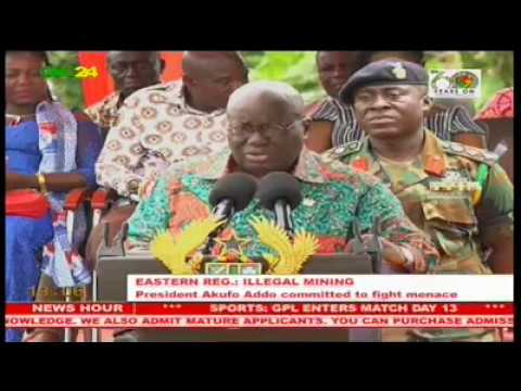 President Akufo-Addo calls for stop to illegal mining in Ghana