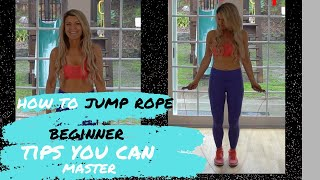 How to Jump Rope Beginner Tutorial tips YOU can master