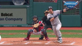 NYY@CLE Gm2: Sanchez opens scoring with two-run homer