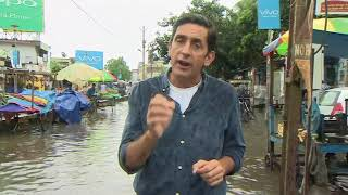 What an hour of rain does to Indian streets - BBC News