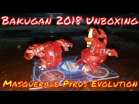 Bakugan Unboxing 2018 Masquerade Pyrus Evolution (Only Two)
