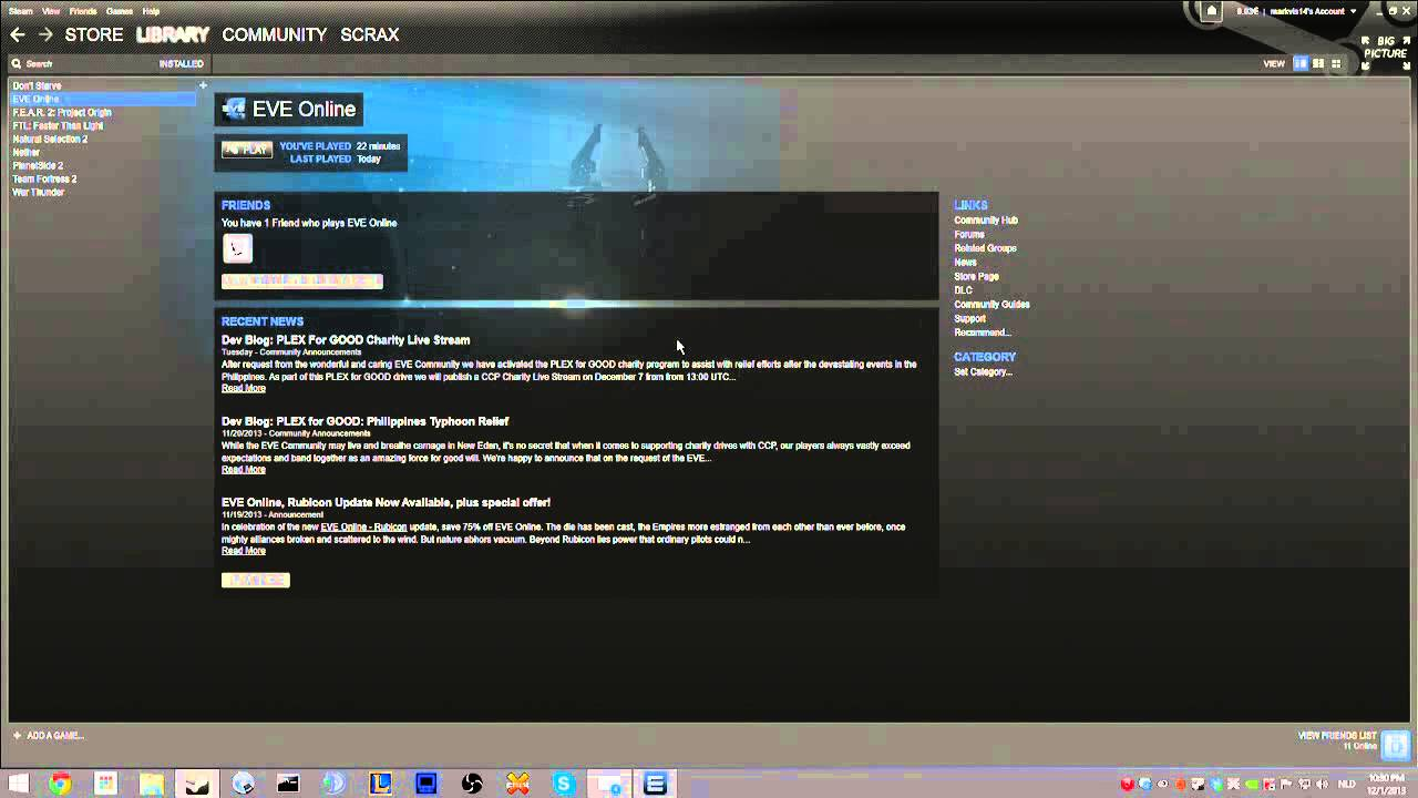 Eve Online - Steam Automatic Login Problem