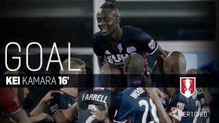 Lamar Hunt U.S. Open Cup Semifinal: New England Revolution vs. Chicago Fire: Kei Kamara Goal