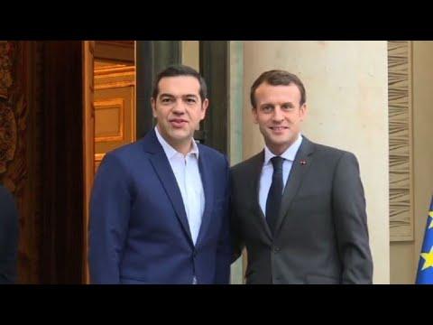 Emmanuel Macron meets with Alexis Tsipras in Paris