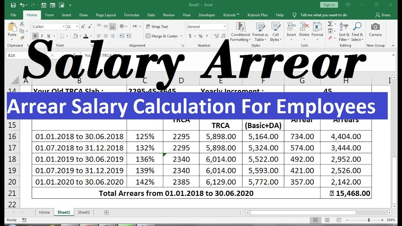 Salary Arrear Calculation Excel Sheet Salary Excel Sheet Salary payroll xls excel sheet