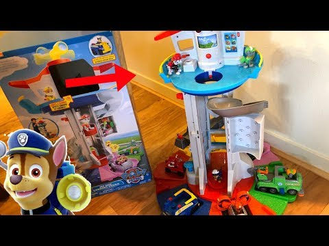 biggest-paw-patrol-lookout-tower!-toy-unboxing-with-chase-marshall-skye-rocky-rubble-zuma