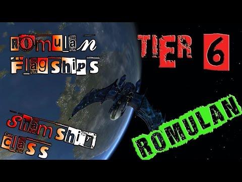 Romulan Flagships, Dreadnought Warbird, Shamshir Class [T6] with all ship visuals - Star Trek Online