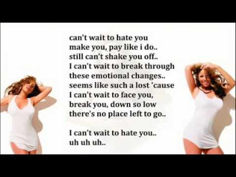 H.A.T.E. U. by Mariah Carey with LYRICS 2010