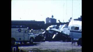 Plane Crash in Chicago Near Shedd Aquarium and Field Museum, 1960
