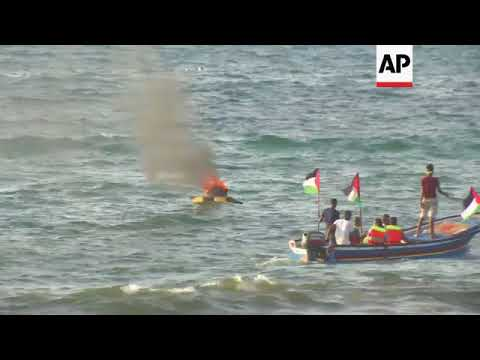 Palestinians Face Israeli Gunfire, Tear Gas As They Sail From Gaza