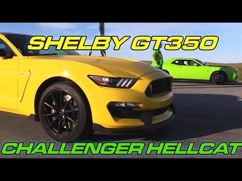 Shelby GT350 vs Hellcat Challenger