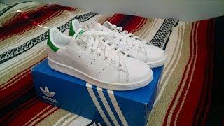 Adidas Originals Stan Smith White/Fairway Green Review 2014 Leather Sneakers