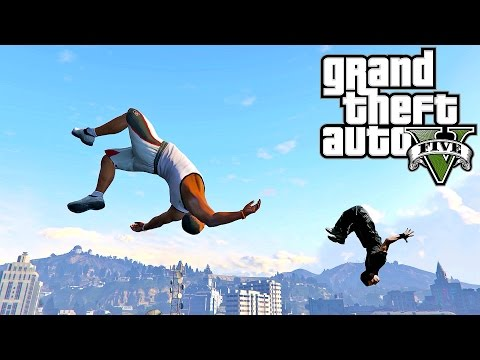 Grand Theft Auto V: GTA 5 - Parkour Fails # 10 (Best Parkour Wins, Highest Jumps, Minecraft, Vines)