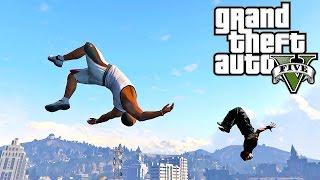 Grand Theft Auto V: GTA 5 - Parkour Fails # 10 (Best Parkour Wins, Highest Jumps, Minecraft, Vines)