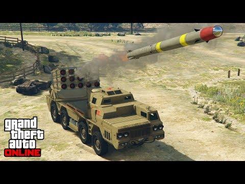 LANZAMISILES INCREIBLE - GTA V ONLINE (GTA 5) - Doomsday Heist DLC (Dia del Juicio Final)