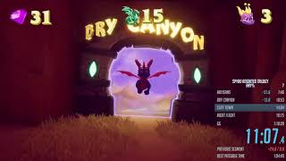 Spyro Reignited Trilogy - S1 Any% Speedrun in 39:31 IGT (1:08:07 RTA)