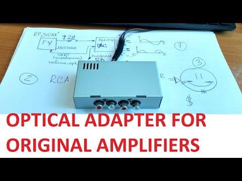 Адаптер с оптики на аналог для авто со штатным усилителем.
