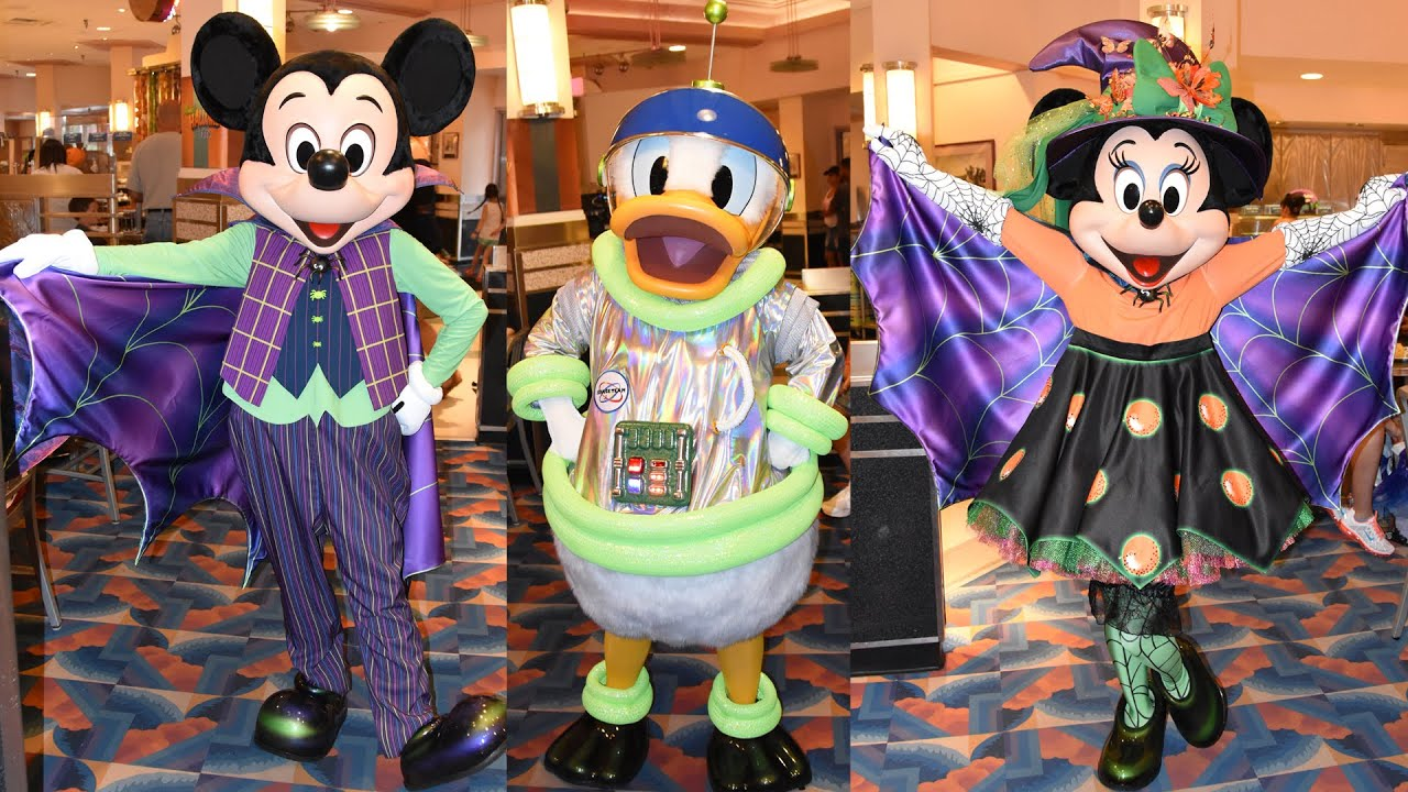 minnies halloween dine character montage at disneys hollywood studios mickey donald daisy youtube - Mickey Minnie Halloween