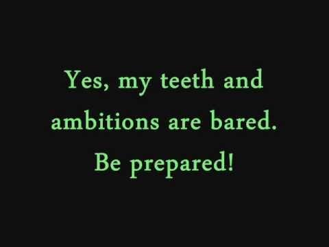 Be Prepared- The Lion King (lyrics)