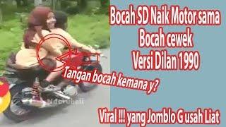 Viral !!! Bocah SD Pakai Baju Pramuka Naik Motor Boncengin Bocah Cewek Juga