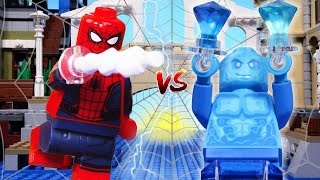 LEGO Spiderman: Far From Home STOP MOTION LEGO Spiderman vs Hydroman Fight in LEGO | By Billy Bricks