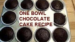 Cupcake Batter Recipe, Basic One Bowl Chocolate Cake Recipe