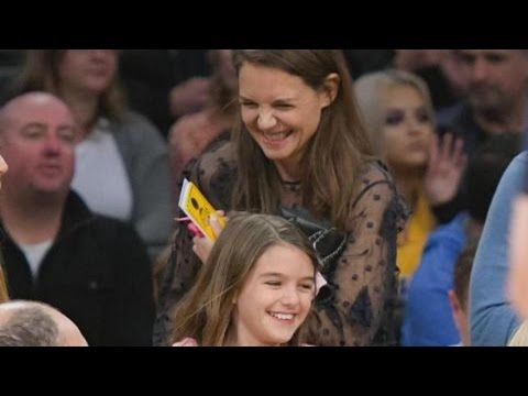 Katie Holmes and Daughter Suri Cruise Are All Smiles at Lakers Game -- See the Pics!