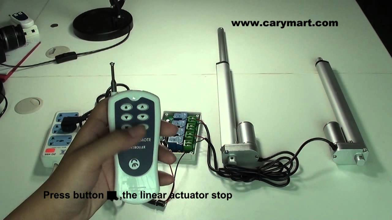 wireless remote control two linear actuators simultaneously