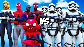 SPIDER-VERSE VS STORMTROOPERS ARMY - EPIC BATTLE