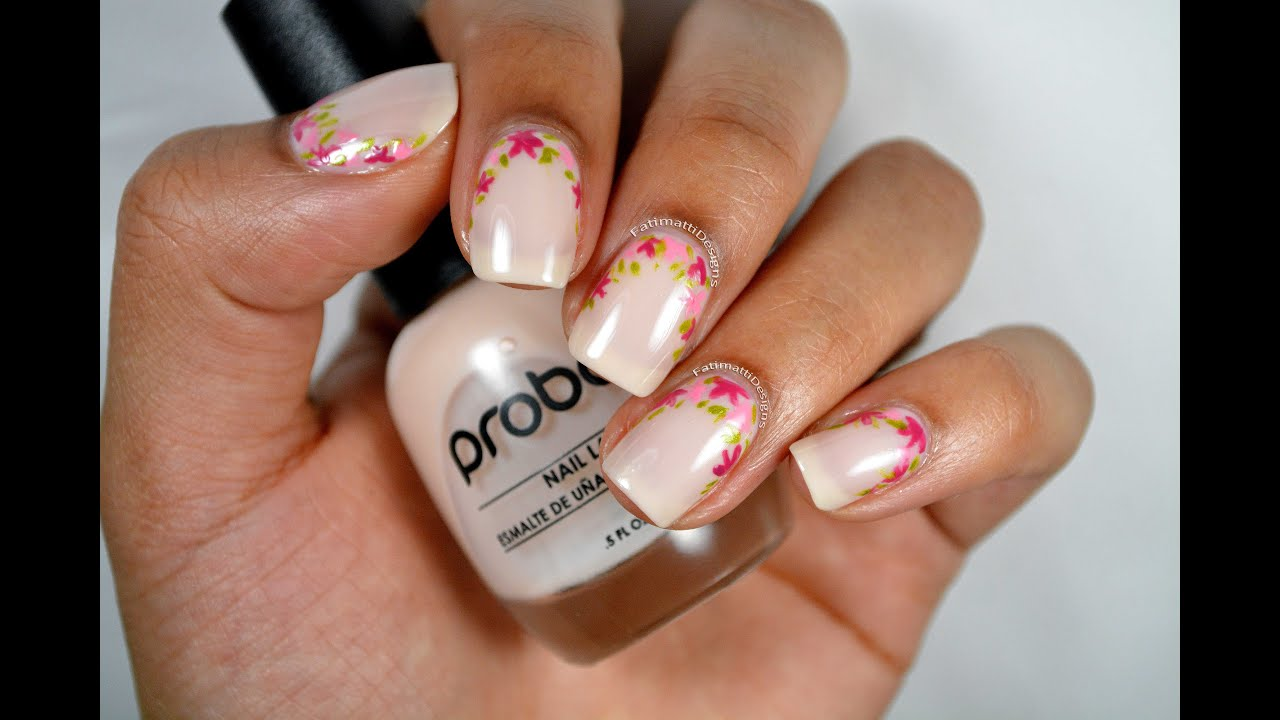Elegant spring flowers ruffian nail art youtube prinsesfo Images