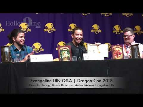 Hollow9ine Covers the 2018 Dragon Con Evangeline Lilly Q&A Panel