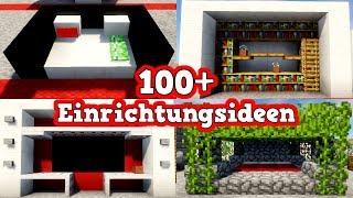 100 Einrichtungsideen In Minecraft | Minecraft Einrichtungstipps | Mineraft  Einrichtung Tutorial