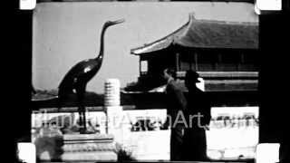 1920's film of China: Americans tour the Forbidden City