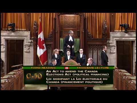 Anita's Question to Parliamentary Secretary Kevin Lamoureux on Bill C-50