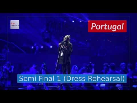 Portugal Eurovision 2017 - Amar Pelos Dois (Semi Final 1 Dress Rehearsal, Live in 4K)