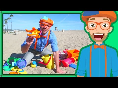 Thumbnail: Blippi on the Beach with Sand Toys | Learning Colors for Children