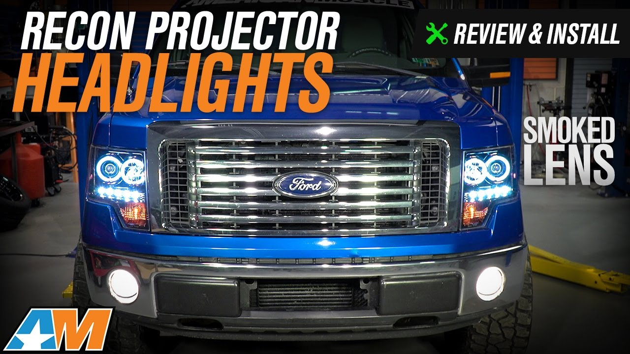 hight resolution of 2009 2014 f150 recon projector headlights w ccfl halo review install