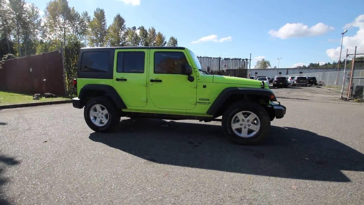 2016 Jeep Wrangler Unlimited Sport Hypergreen Clearcoat Gl334521 Redmond Seattle