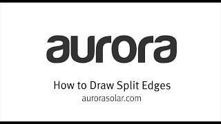How to Draw Split Edges
