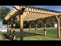 Timber Framed Pergola Michigan City Indiana