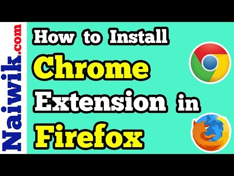 How to install Google Chrome extensions in Firefox browser