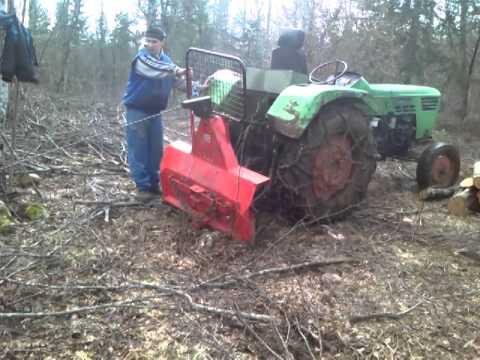 Izvlacenje drva sa vitlom Krpan