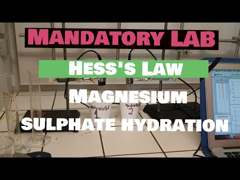 5. Hess's Law Magnesium Sulphate Hydration - DATA COLLECTION