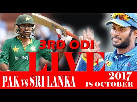WATCH LIVE MATCH STREAMING PAKISTAN VS SRI LANKA 3RD ODI 18 OCTOBER 2017 Live